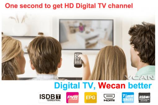 VCAN1092 Car ISDB-T Philippines Digital TV Receiver black box MPEG4 HDMI USB PVR Remote 6