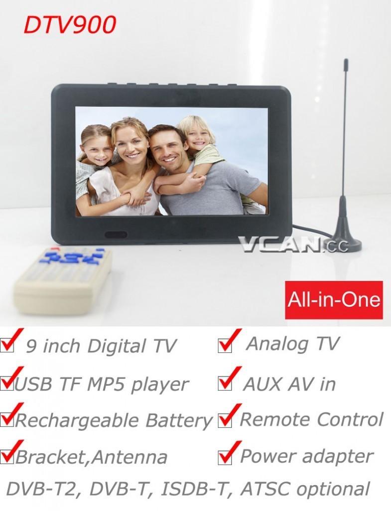 9 inch Digital DVB-T2 TV Analog TV monitor 1