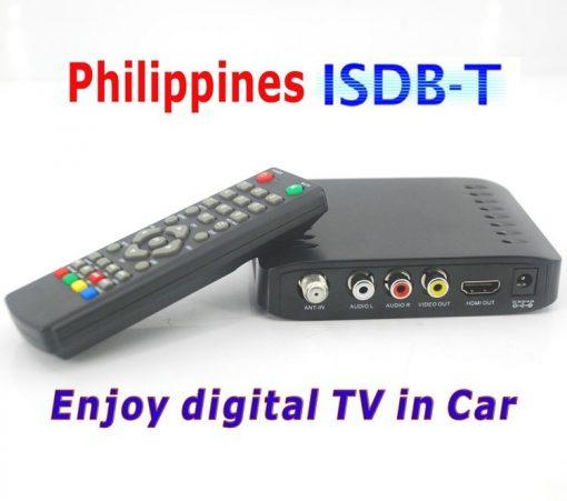 VCAN1092 Car ISDB-T Philippines Digital TV Receiver black box MPEG4 HDMI USB PVR Remote 1