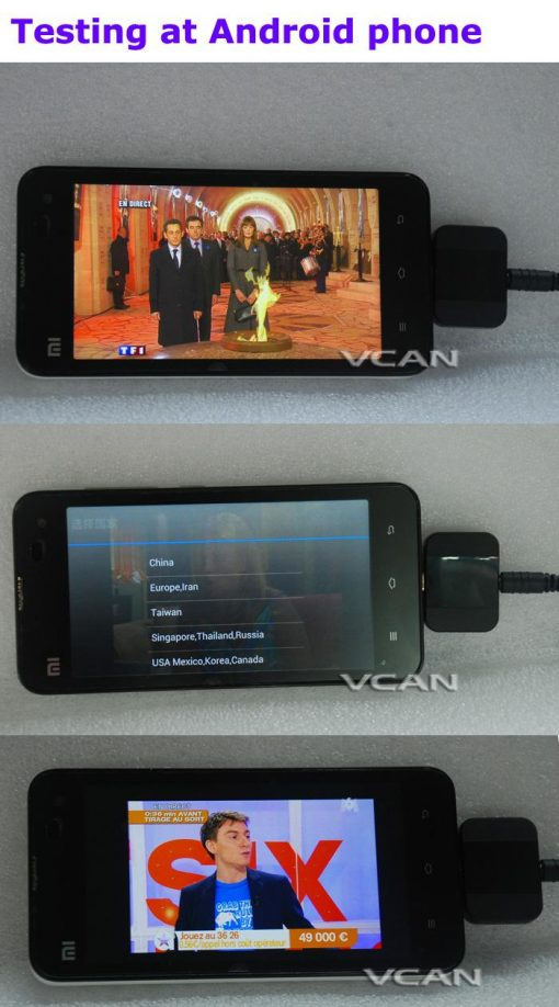DVB-T2I Android DVB-T2 DVB-T TV receiver for Phone Pad Micro USB TV tuner apk 5