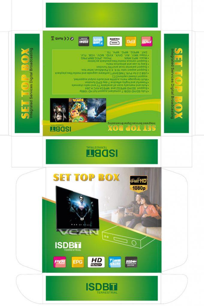 VCAN1047 Home ISDB-T Digital TV Receiver TV Plus black box MPEG4 HDMI USB PVR Remote 13