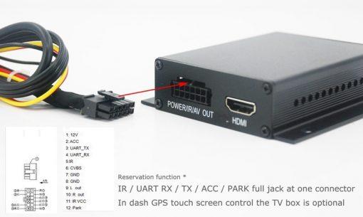 Car DVB-T TV receiver box diversity 2 antenna MPEG4 H.264 STB dvb-t7200 7