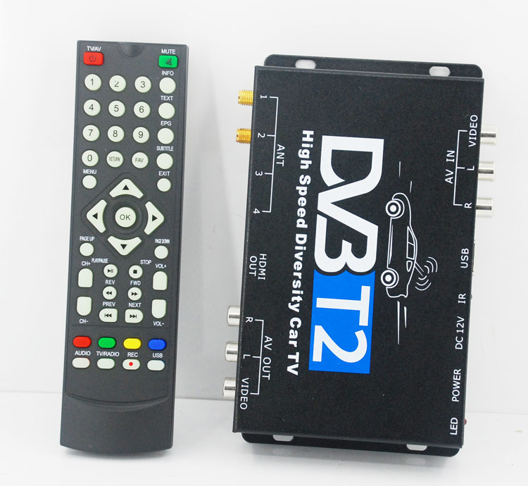 Car DVB-T2 DVB-T High Speed Digital TV Receiver automobile DTV box DVB-T221 3
