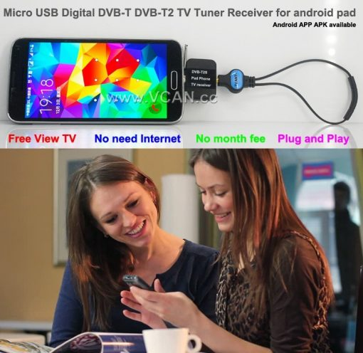 Mobile Phone DVB-T2 TV stick Tuner Receiver Micro USB for android pad digital 4