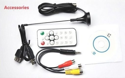 VCAN1090 USB Digital DVB-T2 DVB-T TV Analog TV DVB-C FM DAB TV stick PC use 5
