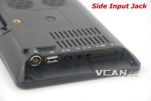 7 DVB-T2 7 inch Digital TV monitor Analog TV USB TF MP5 player AV in Rechargeable Battery 5