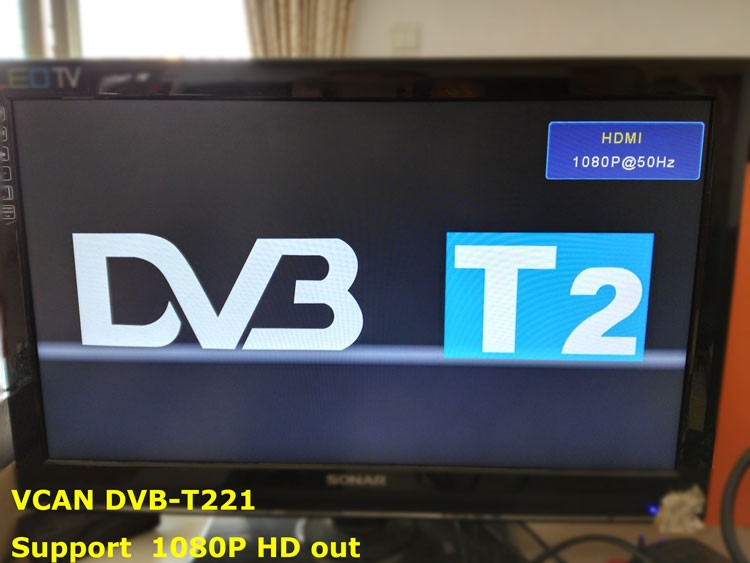 DVB-T2 supports HDMI out for 1080P HD display