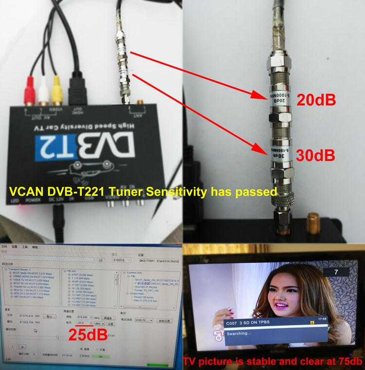 DVB-T2 has high sensitivity tv tuner, working well at some tv signal weak area