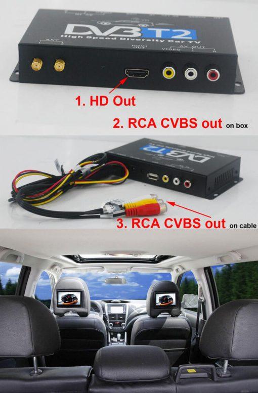 Germany DVB-T2 H.265 HEVC Codec New Model DVB-T265 auto mobile digital car dvb-t2 tv receiver 7