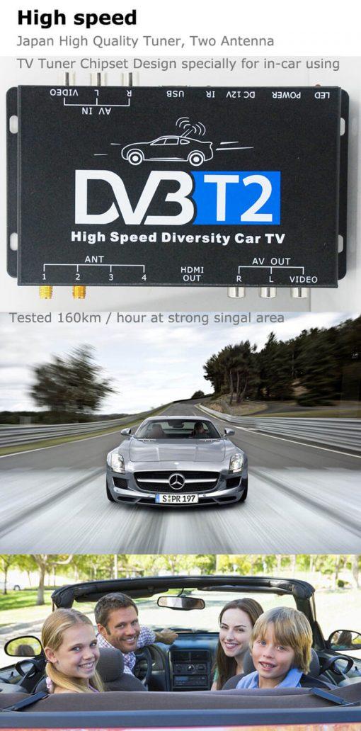 Germany DVB-T2 H.265 HEVC Codec New Model DVB-T265 auto mobile digital car dvb-t2 tv receiver 6