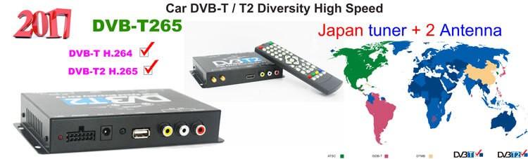 Germany DVB-T2 H.265 HEVC Codec New Model DVB-T265 auto mobile digital car dvb-t2 tv receiver 22