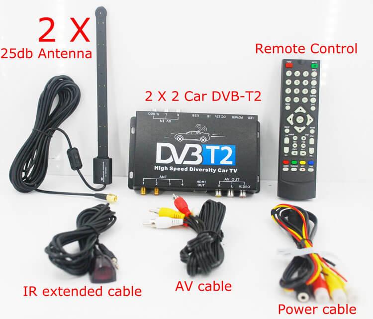 Germany DVB-T2 H.265 HEVC Codec New Model DVB-T265 auto mobile digital car dvb-t2 tv receiver 23