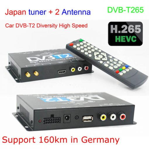 Germany DVB-T2 H.265 HEVC Codec New Model DVB-T265 auto mobile digital car dvb-t2 tv receiver 3