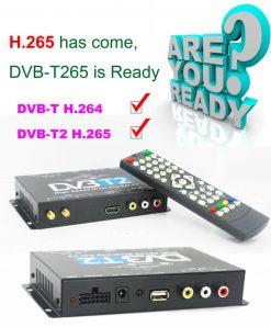 Germany DVB-T2 H.265 HEVC Codec New Model DVB-T265 auto mobile digital car dvb-t2 tv receiver 9