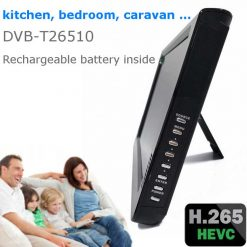 10 DVB-T2 H265 HEVC AC3 Codec Portable TV PVR Multimedia Player Analog kitchen bedroom car DVB-T26510 10