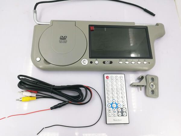 7 inch sun visor DVD player sunvisor left right side USB SD movie player black grey beige factory promotion TM-6686 7010 31