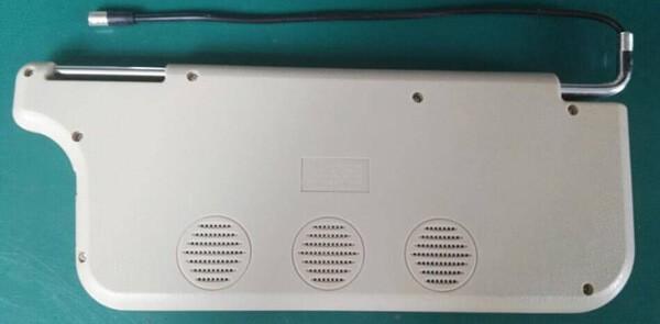 7 inch sun visor DVD player sunvisor left right side USB SD movie player black grey beige factory promotion TM-6686 7010 32