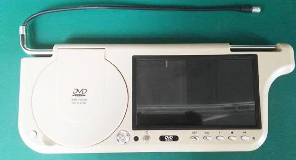7 inch sun visor DVD player sunvisor left right side USB SD movie player black grey beige factory promotion TM-6686 7010 33