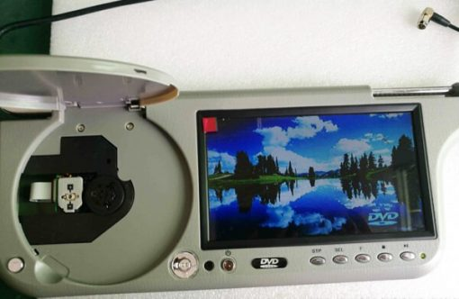 7 inch sun visor DVD player sunvisor left right side USB SD movie player black grey beige factory promotion TM-6686 7010 12