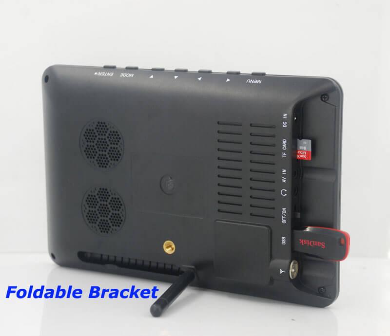 7 inch ISDB-T Digital ISDBT TV HD MPEG4 FULL SEG Analog TV USB TF MP5 player AV input Rechargeable Battery 22