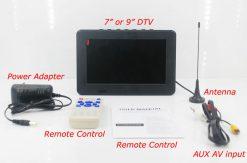 7 inch ISDB-T Digital ISDBT TV HD MPEG4 FULL SEG Analog TV USB TF MP5 player AV input Rechargeable Battery 12