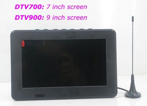 7 inch ISDB-T Digital ISDBT TV HD MPEG4 FULL SEG Analog TV USB TF MP5 player AV input Rechargeable Battery 2