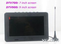 DTV900 DVB-T2 DVB-T ATSC ISDB-T 9 inch Digital TV Analog TV USB TF MP5 player AV in Rechargeable Battery 11