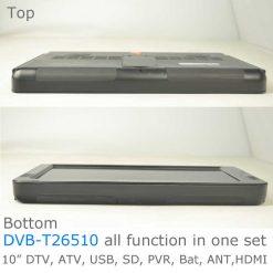 10 DVB-T2 H265 HEVC AC3 Codec Portable TV PVR Multimedia Player Analog kitchen bedroom car DVB-T26510 9