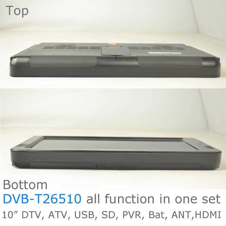 10 DVB-T2 H265 HEVC AC3 Codec Portable TV PVR Multimedia Player Analog kitchen bedroom car DVB-T26510 16