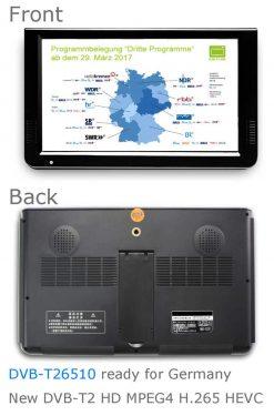 10 DVB-T2 H265 HEVC AC3 Codec Portable TV PVR Multimedia Player Analog kitchen bedroom car DVB-T26510 8