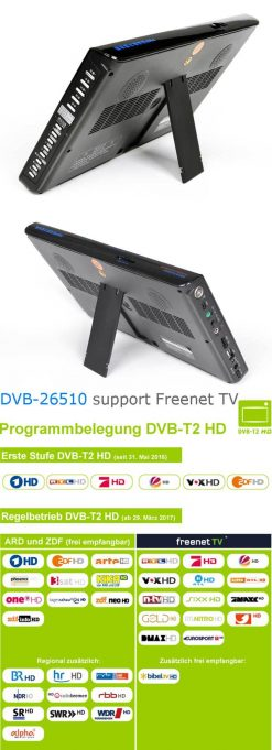 10 DVB-T2 H265 HEVC AC3 Codec Portable TV PVR Multimedia Player Analog kitchen bedroom car DVB-T26510 7