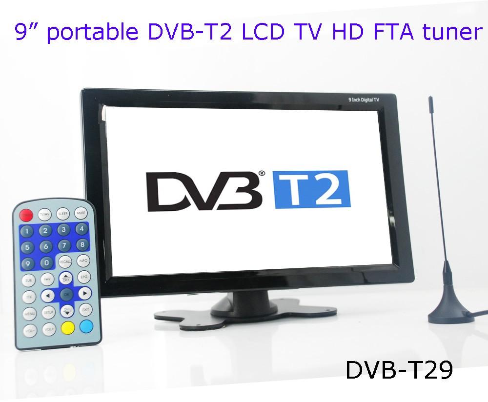 DVB-T29 9 inch portable DVB-T2 LCD TV monitor HD FTA Freenet H265 HEVC Codec 11