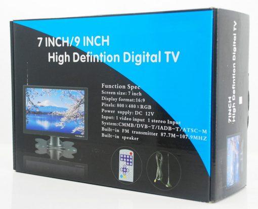DVB-T29 9 inch portable DVB-T2 LCD TV monitor HD FTA Freenet H265 HEVC Codec 3