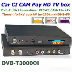DVB-T3000CI HD Car DVB-T CI CAM card reader auto digital tv Slot DTV Europe TNT TDT CA 10