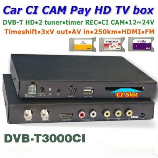 DVB-T3000CI HD Car DVB-T CI CAM card reader auto digital tv Slot DTV Europe TNT TDT CA 1