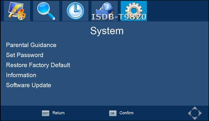 ISDB-T9820車ISDB-T 2つのチューナー2つのアンテナHD MPEG4テレビ受信機、ブラジルペルーチリコスタリカ 6