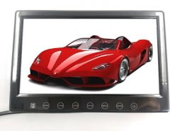 7inch in car slim monitor with digital lcd screen touch button 2 way video input parking rearview Vcan1412 4