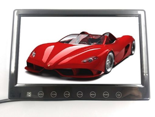 7inch in car slim monitor with digital lcd screen touch button 2 way video input parking rearview Vcan1412 2