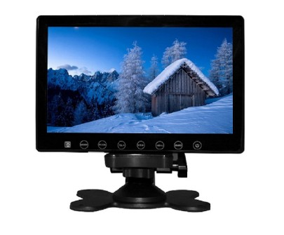 7inch in car slim monitor with digital lcd screen touch button 2 way video input parking rearview Vcan1412 1