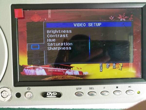 7 inch sun visor DVD player sunvisor left right side USB SD movie player black grey beige factory promotion TM-6686 7010 41