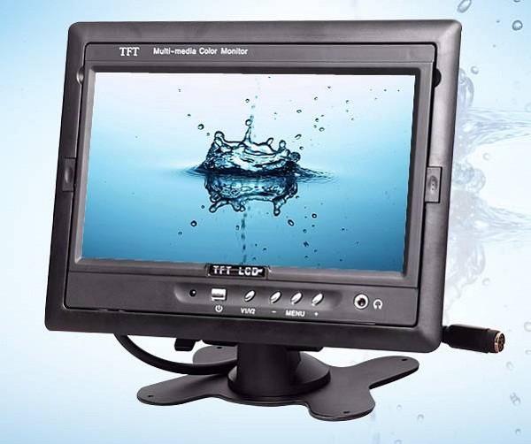 TM-7003A Car 7 inch TFT LCD Monitor 2CH Video Input rear view