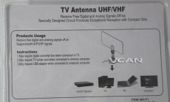 VCAN0992 Digital TV DVB-T2 UHF/VHF Flat antenna and No extra power required for home use 10