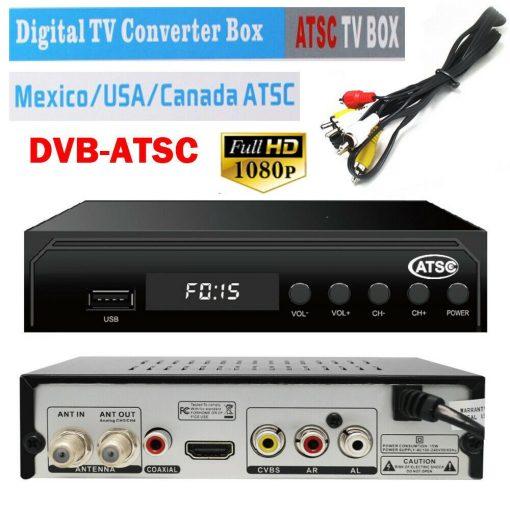 Mexico ATSC TV Receiver Digital TV MPEG4 HDMI USB PVR VCAN1078 for USA Canada 1