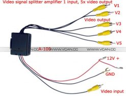 Video Distribution Video Signal Booster Video Amplifier for Car DVD Distribution RCA Splitter A-100 4