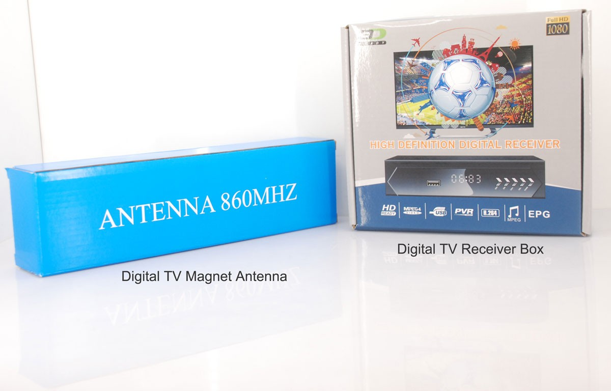 ISDB-T DVB-T2 ATSC Digital TV Antenna with magnet base aerial with signal enlarger MHZ860 Vcan1065 SMA F type IEC MCX 11