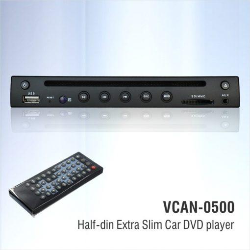 Half Din DVD player Extra Slim for Car use 0.5 Din 1/2 VCAN0500 2