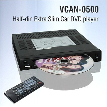 Half Din DVD player Extra Slim for Car use 0.5 Din 1/2 VCAN0500 1