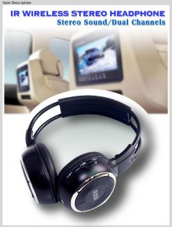 WL-2008 car wireless IR stereo TV headphone infrared headset with TV, VCR, VCD, DVD or audio system 6