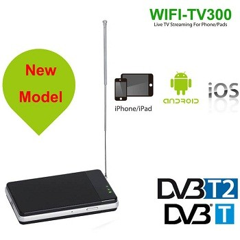 WIFI DVB-T2 Tuner Digital TV DVB-T Receiver for Android and iphone IOS pad WIFI-TV300 1
