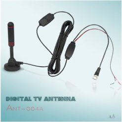 Indoor Portable Digital TV Antenna, 30 dB High Gain Indoor TV Antenna-Antenna Mast for DTT / DTMB, DVB-T, ATSC, DMB-T USB Receiver, Portable with Stable Magnetic Base 6